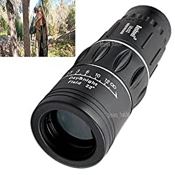 Bushnell 16X52 Powerful Prism Outdoor Travel Binocular Monocular Telescope with Pouch