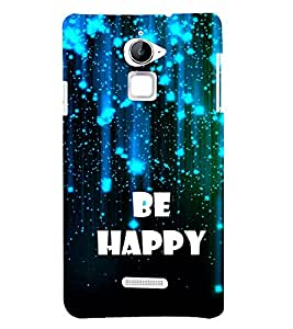 Be Happy 3D Hard Polycarbonate Designer Back Case Cover for Coolpad Note 3 Lite :: Coolpad Note 3 Lite Dual SIM
