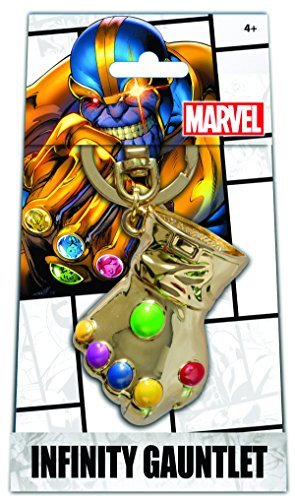 Monogram Marvel Infinity Gauntlet Gold Pewter Keyring
