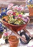Toland Home Garden Red Wheelbarrow 12.5 x 18-Inch Decorative USA-Produced Garden Flag