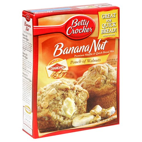 Betty Crocker Premium Muffin Mix, Banana Nut, 15.5-Ounce Boxes (Pack of 12)
