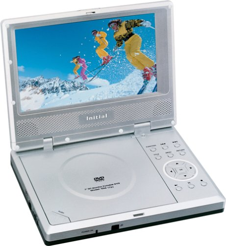 Initial IDM-1731 Portable DVD Player with 7-Inch LCD