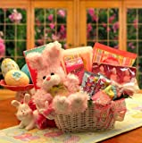 Bunny Fun Easter Gift Basket PINK