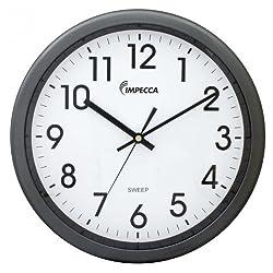 IMPECCA Non Ticking 12 Wall Clock (Metallic Grey)