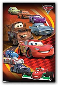 Trends International Cars 2 Group Wall Poster Print