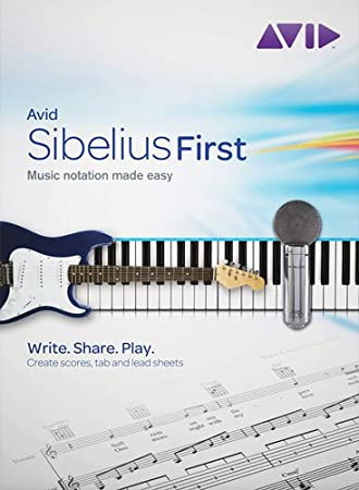 Sibelius 6 First - Easy Music Notation Software CD-ROM