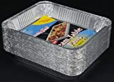 Durable Packaging Aluminum Steam Table Pans, Half-Size, Deep, 20-3/4