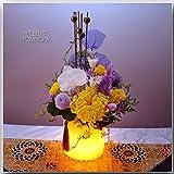 灯明花 プリザーブドフラワー お供え 仏花 枕花 和風 LED