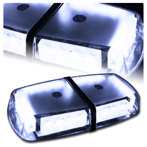 High Wattage Led Magnetic Rooftop Emergency Hazard Warning Strobe Lights - White