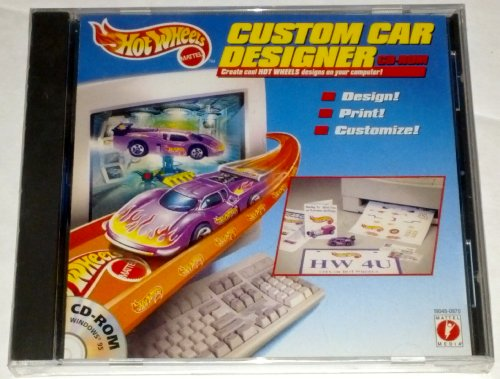 HOT Wheels Custom CAR Designer Cd Rom