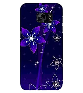PrintDhaba Floral Pattern D-1237 Back Case Cover for SAMSUNG GALAXY S7 (Multi-Coloured)