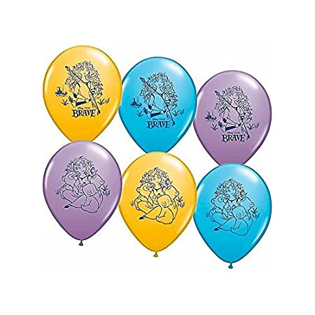 Disney's Brave Latex Balloons. Pair these Disney's Brave helium quality latex balloons with our full line of Disney's Brave party decorations to complete your Superhero party. 6 assorted color balloons per pack.