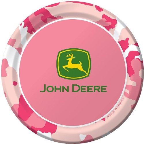 John Deere Pink Dessert Plates (8 per package)