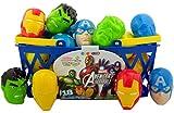 Pack of 18 Marvel Superheros The Avengers Candy Filled Eggs for Easter Basket