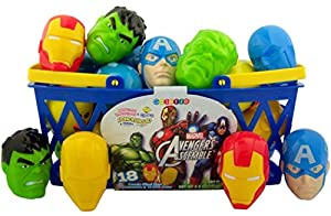 Pack of 18 Marvel Superheros The Avengers Candy Filled Eggs for Easter Basket