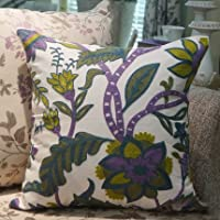 Pillow-Cases Cotton Linen Embroidery Pillowcase Violet Throw Pillow Cushion Covers (one side printing 45 X 45 cm) from Pillow-Cases