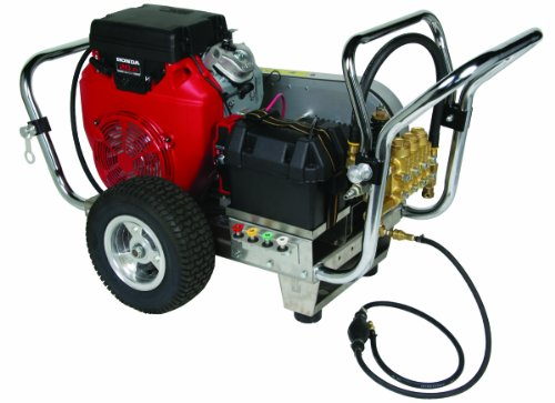 Simpson Water Shotgun Ws5040 5,000 Psi Honda Gx630 Belt Drive Industrial Gas Powered Heavy Duty Pressure Washer front-599414