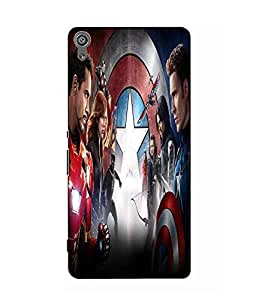 Make My Print Captain America Printed Multicolor Hard Back Cover For Sony Xperia XA Ultra Dual