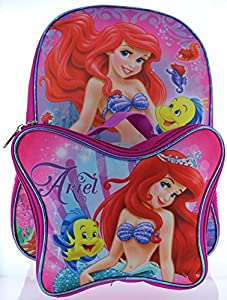 "Ariel the Little Mermaid 15"" Backpack with Lunch Bag"
