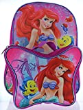 Ariel the Little Mermaid 15 Backpack with Lunch Bag