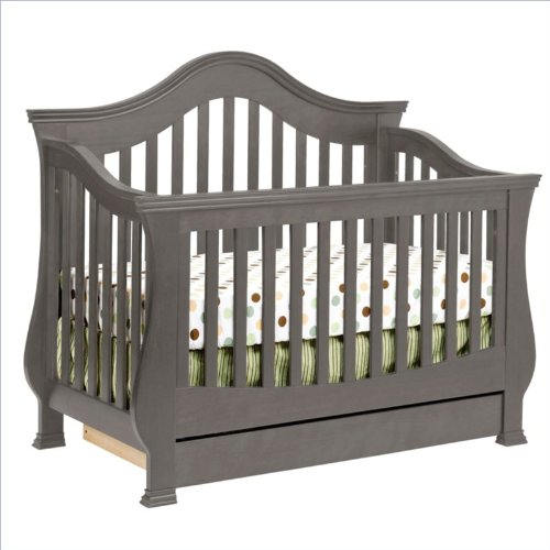Million Dollar Baby Classic Ashbury 4-In-1 Convertible Crib With Toddler Rail In Manor Grey front-257297
