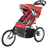 Schwinn Arrow Fixed Wheel Jogging Stroller - Red/Black