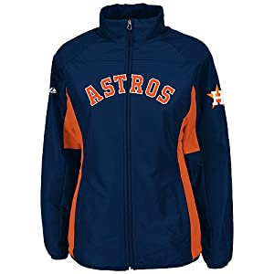 Houston Astros Navy Ladies Authentic Double Climate On-Field Jacket by Majestic by Majestic