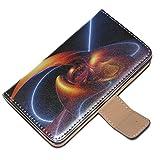 Astratto 10004, Multicolore, Custodia in Pelle Portafoglio Magnetico Flip Stand Wallet Case Cover Shell Borsa...
