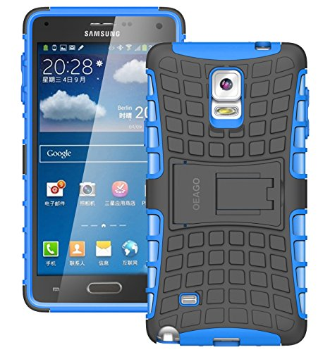 Samsung Galaxy Note 4 Case Cover - Tough Rugged Dual Layer Protective Case with Kickstand for Samsung Galaxy Note 4 - Blue (Note 4 Protective Phone Case compare prices)