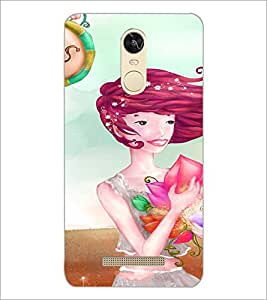 PrintDhaba Sweet Girl D-3299 Back Case Cover for XIAOMI REDMI NOTE 3 (MEDIA TEK) (Multi-Coloured)