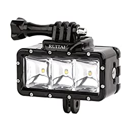 RUITAI Underwater 30m Waterproof High Power Dimmable LED Video POV Flash Fill Light Night Light