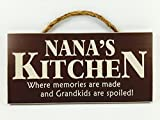 Home Decor Wood Signs With Quotes Inspirational & Sometimes Funny Sayings Rustic Wood Signs Hanging Signs (Nanas Kitchen, 53 115 Rd)