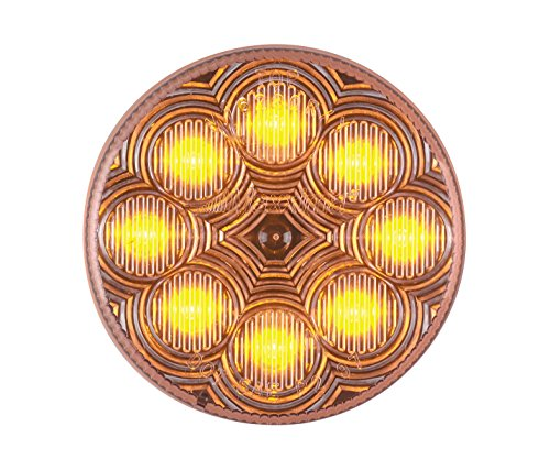 "Maxxima M16280Ycl Amber 2-1/2"" Round Led Clear Lens Clearance Marker Light"