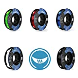SAINSMART 5 Colors - Small-Spool TPU Flexible 3D Printing Filament 1.75mm 250g/0.55lb (Multicolored)