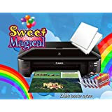 EDIBLE PRINTER BUNDLE FOR CANON WIDE FORMAT, EDIBLE INK AND EDIBLE PAPER SHEETS (Color: black)