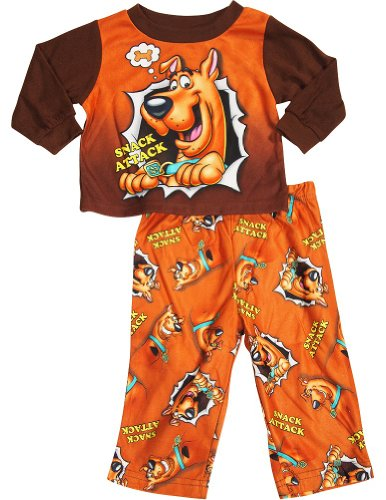 Scooby Doo - Little Boys Long Sleeve Scooby Doo Pajamas, Brown 33570-3T front-175064