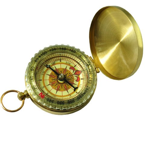 Finejo Delicate Brass Pocket Watch Style Outdoor Camping Compass