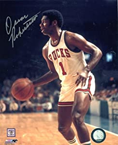 Oscar Robertson Dribbling Milwaukee Bucks Signed Autographed 8x10 Photo by Hollywood+Collectibles