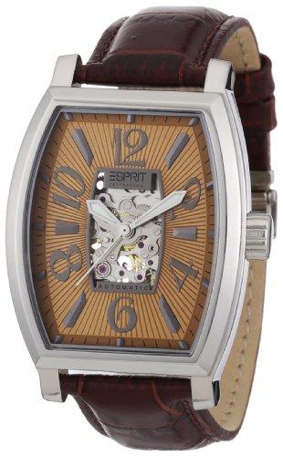 Esprit EL900191006 - Reloj cronógrafo automático para hombre con correa de piel, color marrón