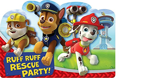 Paw Patrol Invitations 8 Ct