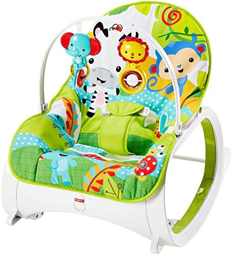 Fisher-Price Baby Gear CMR10 - Dondolino Poltroncina Cuccioli della Natura, Multicolore
