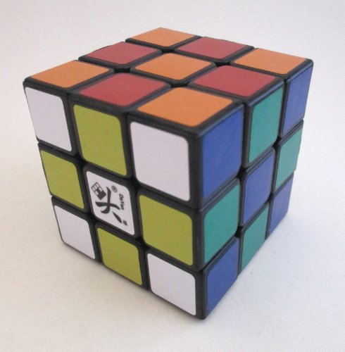 DaYan Zhanchi Speedcube Cube Puzzle, Black, 55mm/3 x 3 x 3