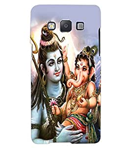 ColourCraft Lord Shiva With Ganesha Design Back Case Cover for SAMSUNG GALAXY A7