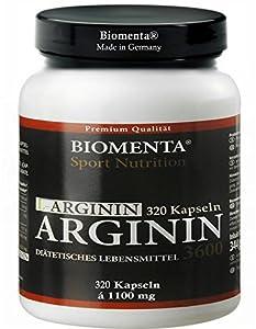 L-ARGININ HOCHDOSIERT - 3600 mg - 320 Kapseln, 2-3 Monatskur