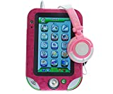 Ultimateaddons® Kids Pink Leather PU Case for Leapfrog LeapPad Ultra / XDi + Pink Headphones