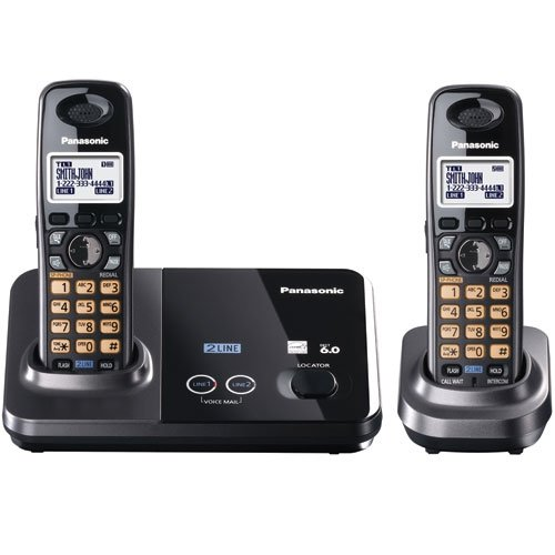 Panasonic Kx-Tg9322T Standard Phone - 1.90 Ghz - Dect - Metallic Black