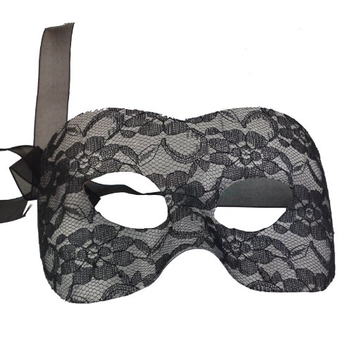 NATI Women's Lace Masquerade Mask Color Black