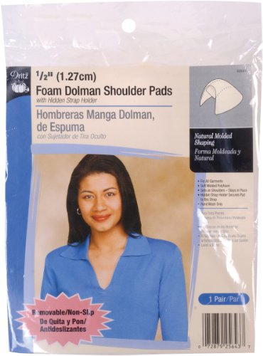 Buy Dritz 1/2  Inch Foam Dolman Shoulder Pads