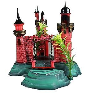 Generic 5 air action old castle aquarium for Fish tank decorations amazon