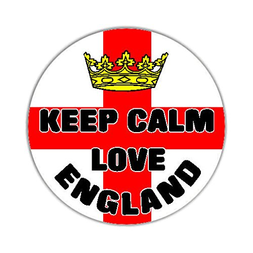 Keep Calm Love England Flag Auto Adesivi / Car Sticker Sign - Decal Bumper Sign